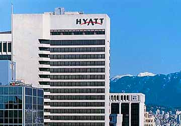 The Hyatt Regency in Vancouver