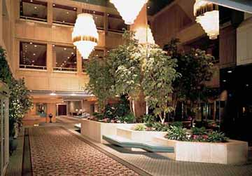 Front Lobby at the Hyatt Regency in Vancouver